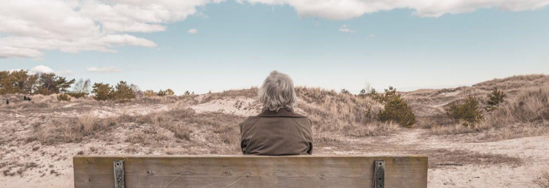 Man sat on bench